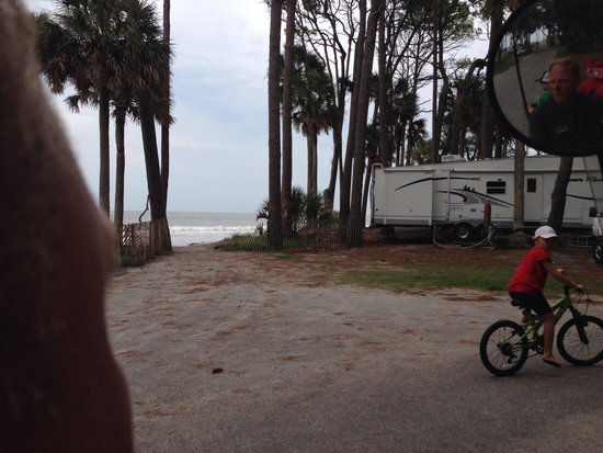Hunting Island State Park Campground: On the beach camping