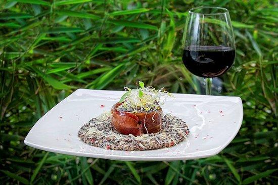 Foresta Hotel Lima: Quinoa risotto and grilled tenderloin in a prosciutto belt Restaurant Terrace Aguaymanto