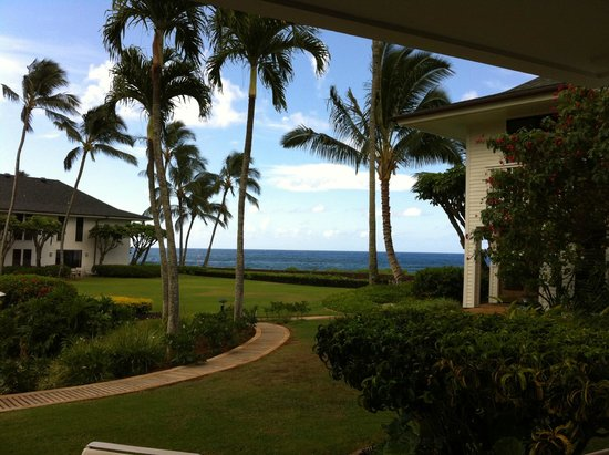 Poipu Kapili: View from unit 14 patio
