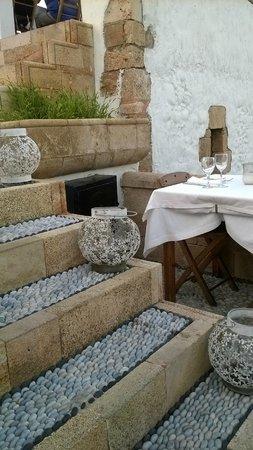 Odyssia Restaurant: A wonderfully romantic setting.