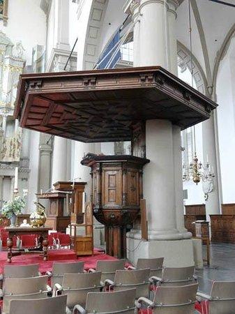 Westerkerk: the podium for the preaching