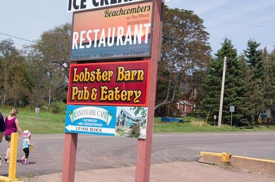 Lobster Barn Pub and Eatery: Sign At The End Of The Wharf
