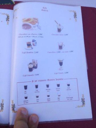 Cafe Central: Carta