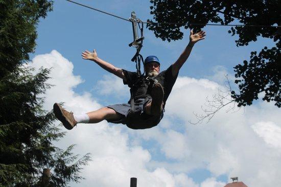 Foxfire Mountain Adventures: me having fun