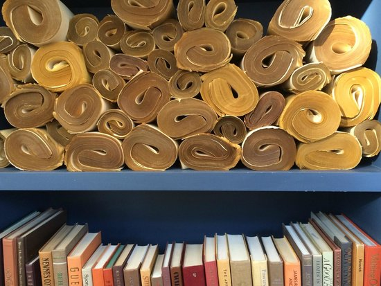 Hotel Teatro: vintage paper scrolls - love the texture
