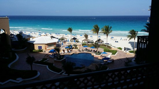 Ritz-Carlton Cancun: View from our room.
