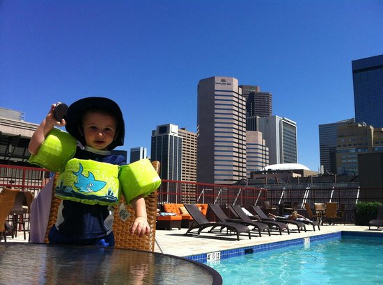 Crowne Plaza Hotel Denver: My son at the pool loving his Oreos...