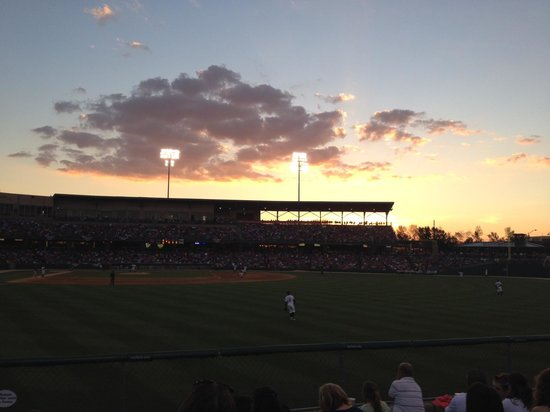 Sunset at Victory Field