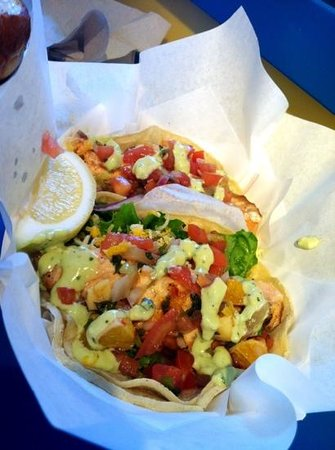 Splash Cafe: Salmon Tacos