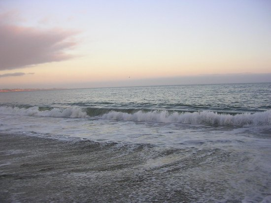 New Brighton State Beach : sun setting in the distance