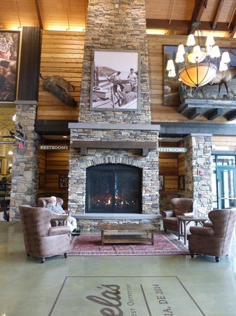 Cabela's Newark Fireplace - Picture of Cabela's, Newark - TripAdvisor