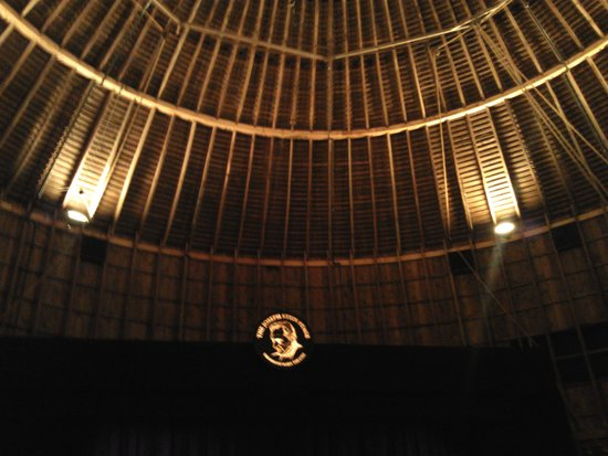 The Round Barn Theatre at Amish Acres: the stage from our seat