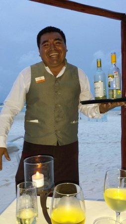 El Dorado Maroma, by Karisma: Our amazing waiter, Ruben!