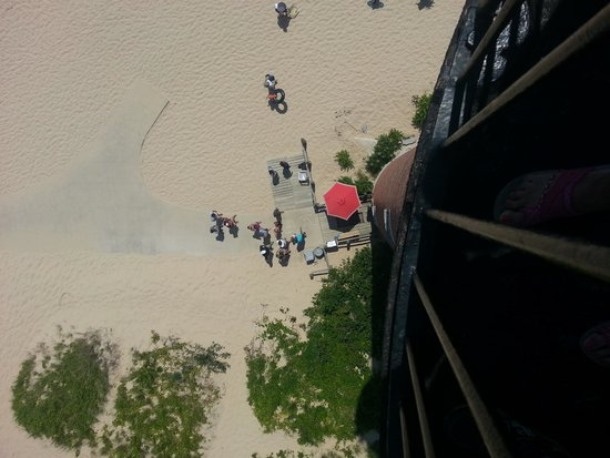 Little Sable Point Lighthouse: View from the top looking down