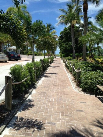 Tropical Beach Resorts: Path to the beach