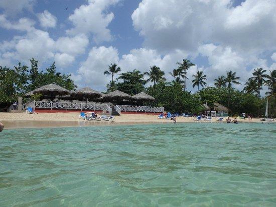 Grand Bahia Principe El Portillo : vue sur le snack de plage.....