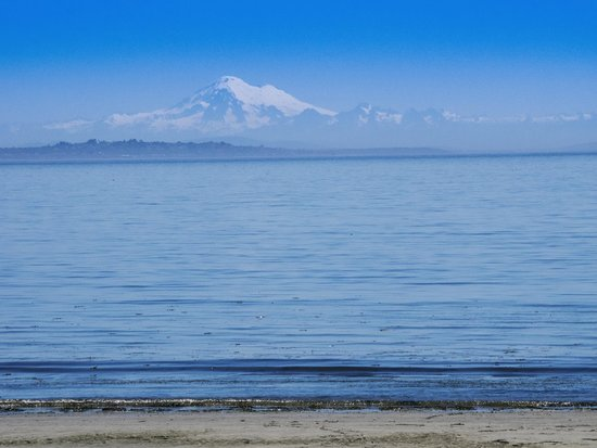 Weir's Beach RV Resort: View of Mt. Baker from the beach