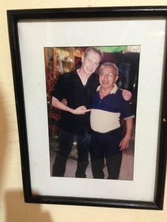 El Moro: Steve Buscemi in a photo with staff