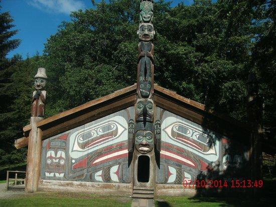Potlatch Totem Park: A typical native home of yore