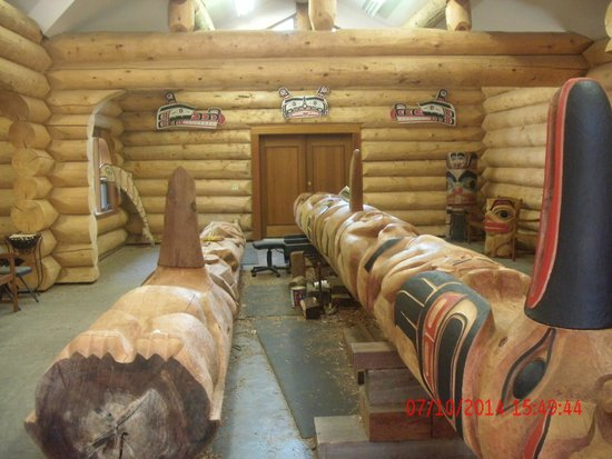 Potlatch Totem Park: Totems are regularly being recreated and/or replaced