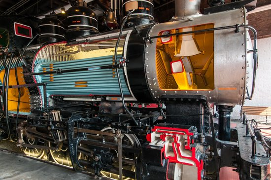Steamtown National Historic Site: Full Sized Steam Locomotive Cutaway