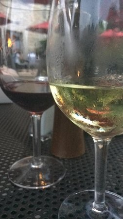 A beautiful wine list here at Terrace Room.  Rombauer Chardonnay and Al Passo Sangiovese/Merlot