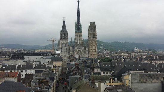 Rue du Gros Horloge : View from the roof of the Astronomical Clock