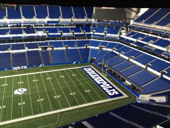 Lucas Oil Stadium: What a view!