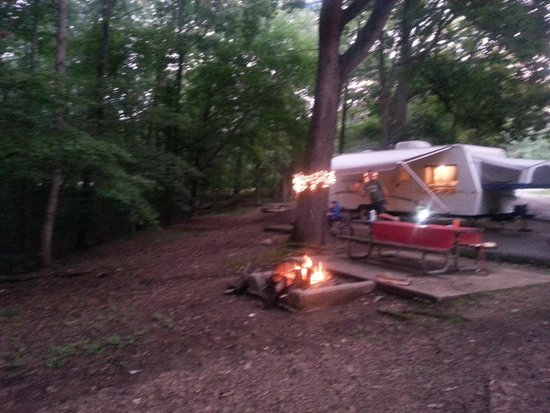 Tims Ford State Park: our spacious campsite