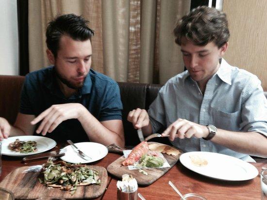Blue Duck Tavern : Celebrants, digging in