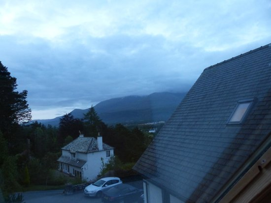 Treetops: View of Aonoch Mor from our room