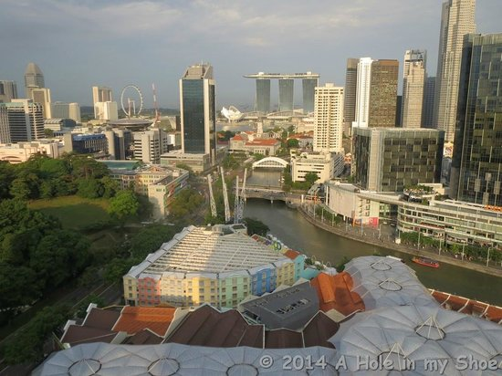 Novotel Singapore Clarke Quay: View from our windo