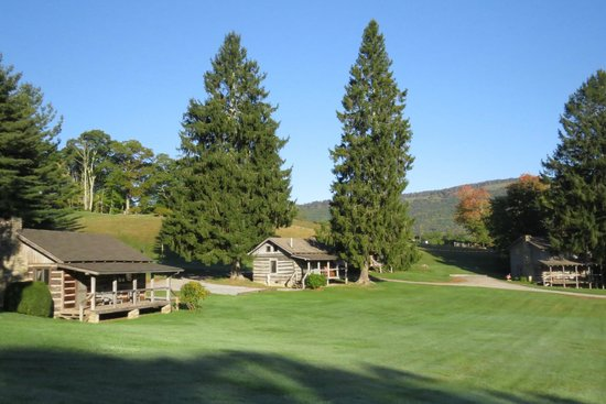 The Cataloochee Ranch: Two of the many historic cabins