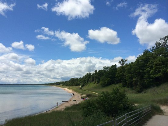 Whitefish Dunes State Park: Coastal View with Forest