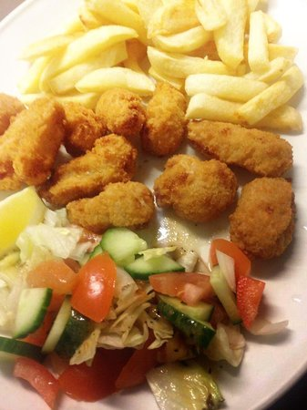 Europa Restaurant: fried scampi