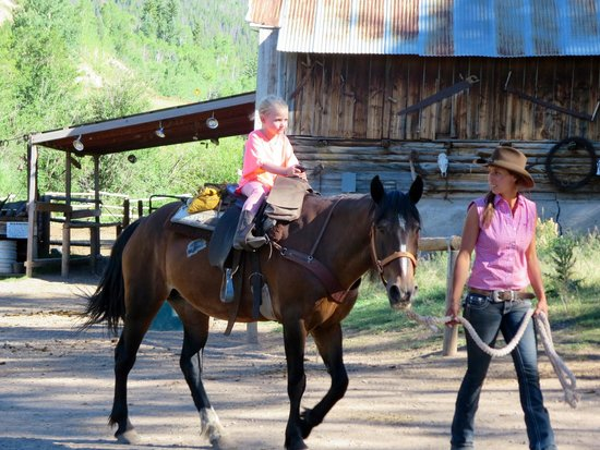 Bearcat Stables: My 5 year old on her first horse ever