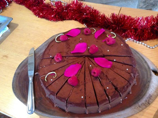 Bacchus at Milton : The Chocolate Torte - one of three desserts
