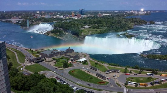 Niagara Falls Marriott on the Falls: Niagara Falls and a Rainbow