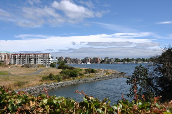 Spinnakers Brewpub and Guesthouses: view of the inner harbour