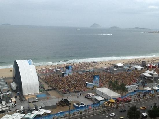 Hilton Rio de Janeiro Copacabana: Fifa Fanfest before 1-7 Brasil vs Germany