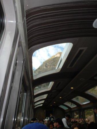 PeruRail - Vistadome: Through the skylight window