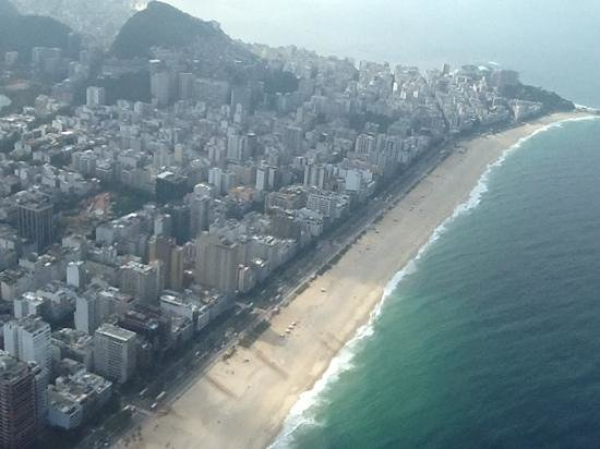 Hilton Rio de Janeiro Copacabana: view from helicopter