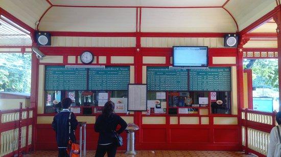 Hua Hin Railway Station: ticketing area