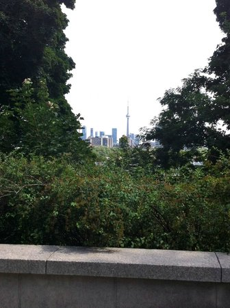 View of CN Tower from Casa Loma
