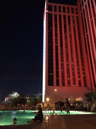 Grand Sierra Resort and Casino : The pool at night.