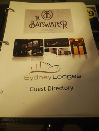 The Bayswater Sydney: Guest Directory