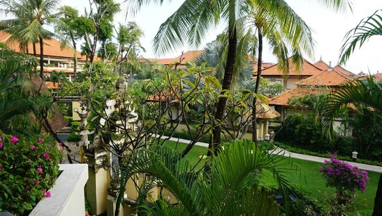 The Tanjung Benoa Beach Resort Bali: view from our Garden room Balcony