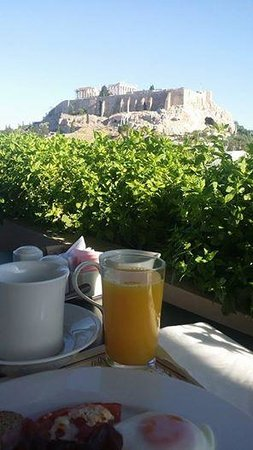 The Athens Gate Hotel: breakfast with a view