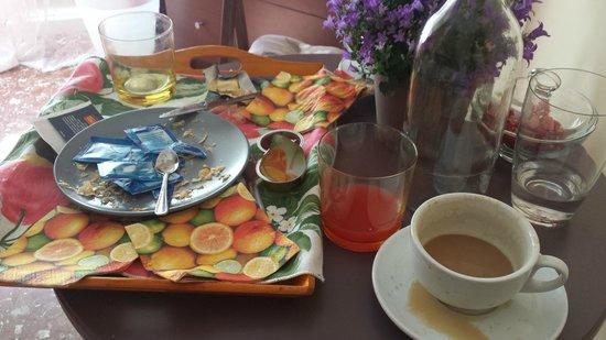 La Stella di Roma B&B: Breakfast remains