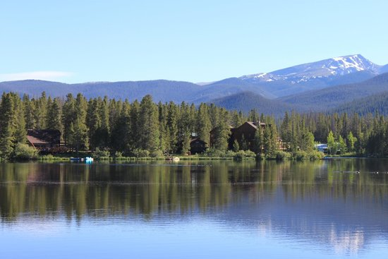 Moose Lake Lodge, LLC : View of the cabin from across the lake